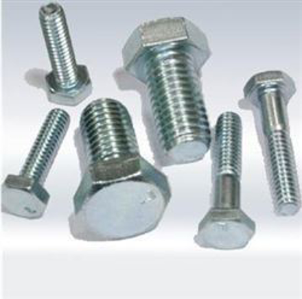 Picture of Galvanized Hexagonal Cap Screw, Full Thread Hex Tap Bolts