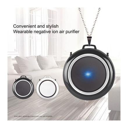 图片 Air Purifier Necklace Wearable Portable USB Personal Ionizer Hepa Portable Air Freshener, UE04AIRF1