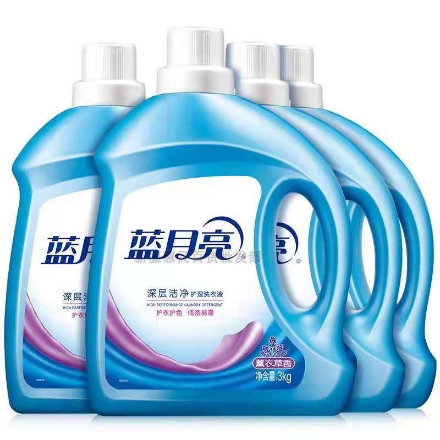 Picture of Blue Moon Laundry Liquid Lavender Scent (deep cleansing, brightening and brightening)3000g,1 barrel, 1*4 barrel|蓝月亮洗衣液薰衣草香(深层洁净,亮白增艳)3000g,1桶,1*4桶