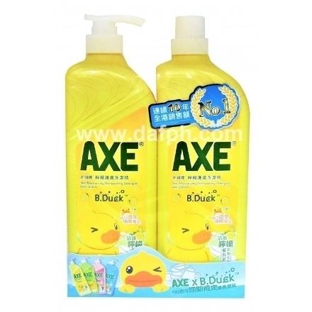 Picture of Axe Lemon Dishwashing Liquid Special Pack 1300GX2 Bucket,1 bottle 斧头牌柠檬洗洁精优惠装1300GX2桶,1瓶