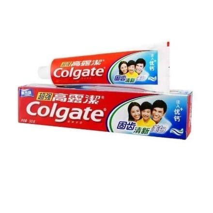 Picture of Colgate toothpaste super high calcium 90g,1 box, 1*36 box 高露洁牙膏超强高钙薄荷味90g,1盒,1*36盒