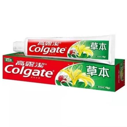 Picture of Colgate toothpaste herbal 140g,1 box, 1*48 box 高露洁牙膏草本薄荷味140g,1盒,1*48盒